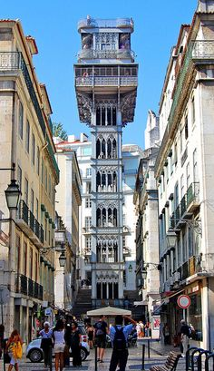 The very cool Elevador de Santa Justa, Lisboa, Portugal