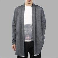 8b84e01326 Men Fashion Long Sleeve Cardigan Slim Fit Casual Open Front Jacket Coat Tops