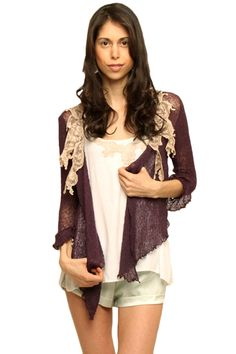 Beautiful handsewn lace sweater that is not only comfortable, but also adds a subtle feminie touch to any outfit. Casual Clothes, Casual Outfits, Lace Shirts, Lace Sweater, Embroidered Lace, Virtual Closet, Sewing Tips, Get Dressed, Kimono Top