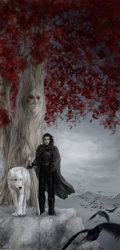 Jon Snow and Ghost - Game of Thrones Arte Game Of Thrones, Game Of Thrones Artwork, Game Of Thrones Ghost, Cersei Lannister, Daenerys Targaryen, Winter Is Here, Winter Is Coming, Game Of Thrones Winter, Game Of Thones