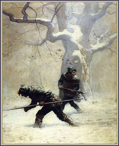"""The Black Arrow"" by Robert Louis Stevenson 'He…studied out their path"" 1916 illustrations by N. Wyeth (Source : beautifulcentury, via timespent) Jamie Wyeth, Andrew Wyeth, Dungeons And Dragons, Arrow Illustration, Nc Wyeth, Edmund Dulac, Art Brut, Art Graphique, Illustrations"