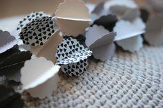 """Clouds HORIZON"" handmade paper garland - design, styling and photo © Mi-avril"