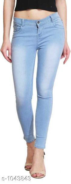 Jeans Upstyle Women's Denim Jeans  *Fabric* Denim  *Waist Size* 28 in,30 in,32 in,34 in,36 in  *Length* Up To 40 in  *Type* Stitched  *Description* It Has 1 Piece Of Women's Denim Jeans  *Work* Solid  *Sizes Available* 28, 30, 32, 34, 36, 38, 40 *    Catalog Name: Bria Upstyle Women's Denim Jeans Vol 4 CatalogID_126750 C79-SC1032 Code: 324-1043843-