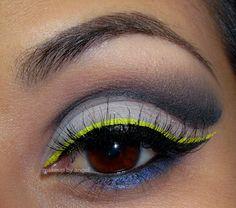 Neon Liner http://www.makeupbee.com/look.php?look_id=51887