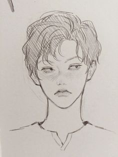 Fantasting Drawing Hairstyles For Characters Ideas. Amazing Drawing Hairstyles For Characters Ideas. Drawing Faces, Drawing Sketches, Art Drawings, Sketches Of Boys, Drawing Of A Boy, Pencil Drawings, Drawing Tips, Kunst Inspo, Art Inspo