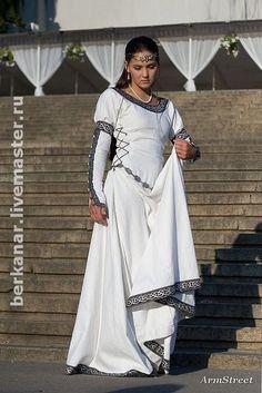 """Средневековое платье """"Шахматная королева"""" - эко,средневековое платье,свадебное платье"""