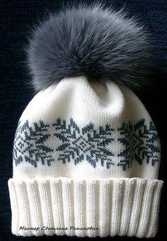 """Купить Шерстяная детская шапочка с меховым помпоном """"Норвегия"""" - детские теплые шапки"""