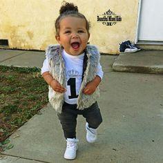 Meilani - 1 Year • African American, German, Polish & Mexican ❤ FOLLOW @beautifulmixedkids on instagram WWW.STYLISHKIDSAPPAREL.COM
