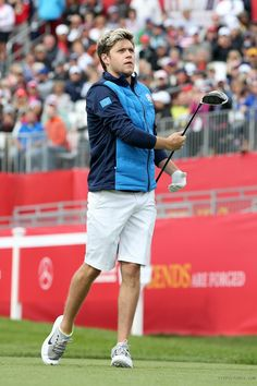 Niall golfing at the Ryder Cup