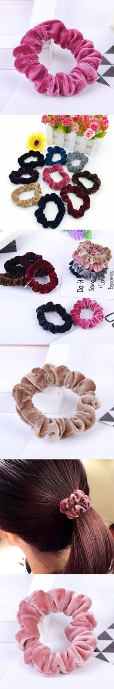 Fashion New Arrival 10 Colors Solid Hair Rope Velvet No Crease Women Elastic Hair Bands Hair Accessories