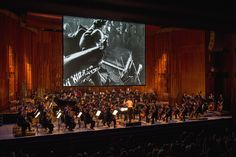 The London Symphony Orchestra playing Edmund Meisel's original score  of Eisenstein's October