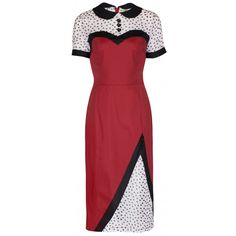 LINDY BOP 'WILMA' VINTAGE 1950's ROCKBILLY WIGGLE DRESS