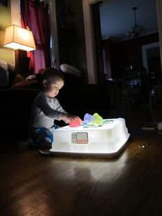 Storage container and lights - PAHM fan Lindsay Johnson