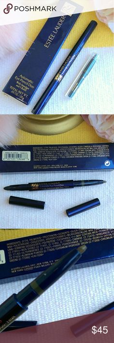 Estee Lauder Automatic Eye Pencil Duo Estee Lauder Automatic Eye Pencil Duo with Smudger and 1 Refill  - COLOUR: 05 KHAKI  Versatile double-ended pencil with removable cartridges allows you to individuals your eye color.  NEW NEVER USED  ONLY REASONABLE OFFERS ACCEPTED Estee Lauder Makeup Eyeliner