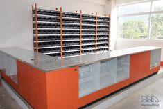 Mostrador con cubierta de aluminio antiderrapante