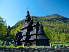 Borgund, Norway  This church completed construction in 1250 A.D. and has been beautifully preserved ever since. The triple-nave style is traditional for these stave churches and served as a model for much of the architecture in Frozen.