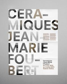 "2015 — Press kitPress kit for the ""Céramiques"" exhibitionat the Valois gallery (France).Artist: Jean-Marie Foubert"