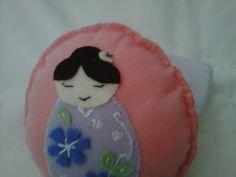 Mandala em feltro bordado por Vitti