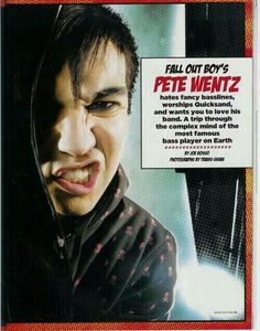 Pete wentz OMG I LOVE HIM SO MUCH I CAN'T EVEN COPE!!!!!!!!!
