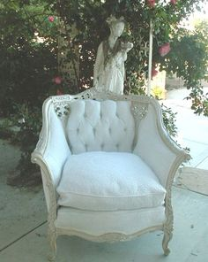 Shabby French Bergere Chair