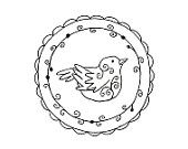 Bird Wreath Floral Embroidery Pattern Woodland Animal Digital Downloadable