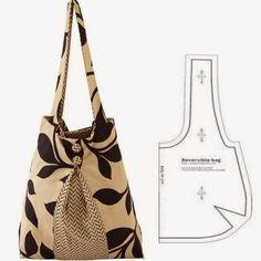 Bolsa reversível fácil de costurar em tecido. Aqui fica uma excelente ideia para prendar as mães, as filhas ou uma amiga. Estas bolsas são fáceis de costur