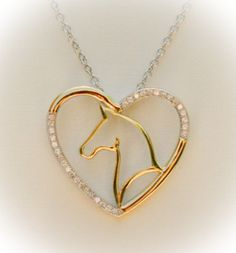 Beautiful 'Custom' Design Horse Necklace! Only $29.95 Regular $59.99! ***** Very Limited Number Available so get yours today if you want one **** ==>> PLUS FREE Shipping if you order Now! A Tees Are M