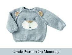 On Baby BabyPullover Babytrui gratis Kostenlose Strickanleitung für Baby-Overall maandag patroon stricken Baby Sweater Knitting Pattern, Crochet Baby Cardigan, Baby Knitting Patterns, Baby Patterns, Booties Crochet, Crochet Hats, Baby Blue Sweater, Baby Sweaters, Baby Overall