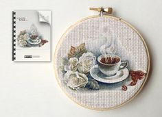 Punto de cruz decorativo de la semana: Café