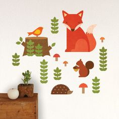 Woodland+Fabric+Wall+Decals