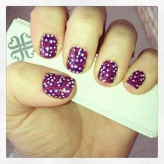 Wild Berry nails with Jamberry www.nailswithjess.jamberrynails.com
