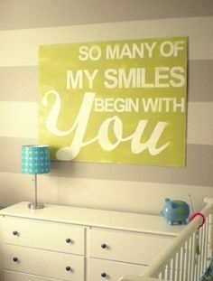 Such a sweet sign to put up in the nursery or children's bedroom!