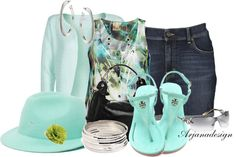 """Daily Denim 5/1/13"" by arjanadesign ❤ liked on Polyvore"