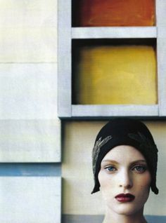 """Neo Structure"": Amy Wesson photographed by Steven Meisel for Vogue Italia, October 1996"