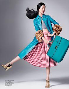 tian yi model5 Tian Yi Wears New Season Fashions for Vogue China by Stockton Johnson