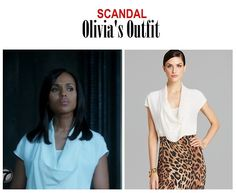 "On the blog: Olivia Pope's white cowlneck blouse | Scandal 406 - ""An Innocent Man"" #tvstyle #tvfashion #outfits #fashion #gladiators #TGIT"