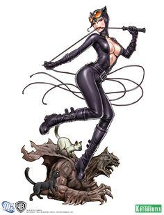 Kotobukiya Catwoman Bishoujo illustration by Shunya Yamashita
