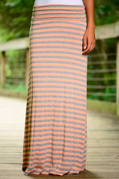 This maxi skirt is amazing! The perfect fit with the super soft material and adjustable waistband! Such a great casual piece to throw on and go!