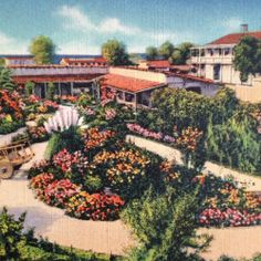 Inner Court of Ramona's Marriage Place, San Diego, 1933. So lush...