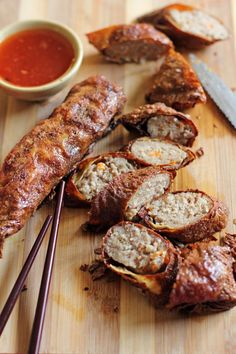 Kikiam or Quekiam is another popular street food in the Philippines. The sausage-like streetfood is made out of mixed pork and seafood wrapped in bean curd skin