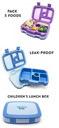 A better way to do lunch. Pack five separate foods in one container with this bento box.