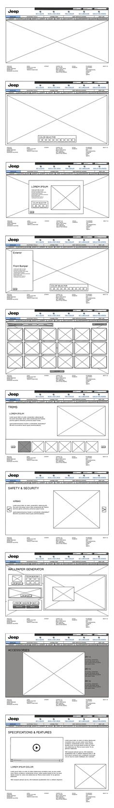 fca-jeep wireframing