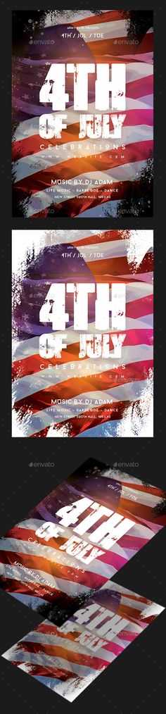 4th of July Party Flyer Template PSD