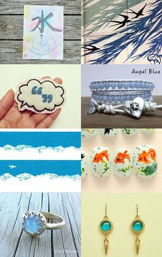 "Another cool collection from @etsy Japan team treasury! ""Calm like water..."" by Nat"
