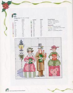 >carolers/house Counted Cross Stitch Kits, Cross Stitch Charts, Cross Stitch Patterns, Christmas Tree Pattern, Christmas Cross, Christmas Ornaments, Cross Stitching, Cross Stitch Embroidery, Stitch Doll