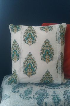 What a wonderful idea - homemade pillow created by World Market napkins by Amanda Foltz.