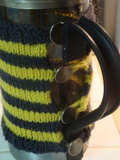 Life As We Know It: Easy Knit French Press Cozy Pattern