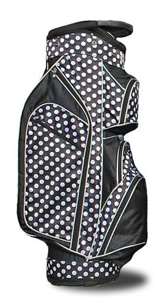 Lori's Golf Shoppe offers a great selection of women's golf bags to compliment your game! Check out our large selection of golf bags for sale just like this Taboo Fashions Ladies Lightweight Golf Cart Bags - Monaco Premium (City Lights Polka Dot)
