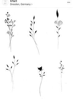 Cute Tattoos, Flower Tattoos, Body Art Tattoos, Small Tattoos, Tatoo Tree, Botanisches Tattoo, Shoulder Tattoos For Women, Floral Drawing, Flower Doodles