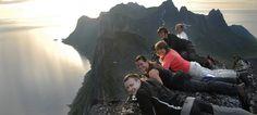 Summit of Segla in Senja Norway